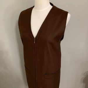 Sag Harbor Wool Zip Up Dress Size 8